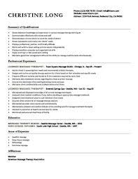 Definition Of Functional Resume Simple 48 Free Massage Therapist Resume Templates