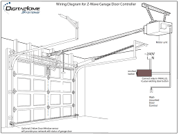 wiring diagram for z wave garage door controller with motor unit and wall mounted door control