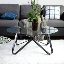 furniture clear tempered glass round