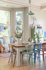 and the table turned that direction for my dining area like the colored chairs too mismatched chairs