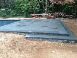 long island pool bluestone patio installation step by step mini project