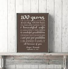 Minutes To 100ths Of An Hour Conversion Chart 100 Year Old Birthday Idea 100th Birthday Gift Sign Personalized Art For Grandma Grandpa Print Or Canvas Custom Keepsake