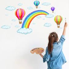 3D Cartoon Rainbow Bridge White Clouds ...