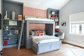 Awesome Cool Boys Bedrooms View In Gallery Custom Bed And Shelves For The Boys  Bedroom In Cool