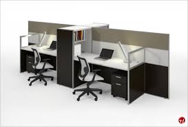 office desk cubicle. Picture Of Milo Cluster 4 Person Cubicle Office Desk Workstation S