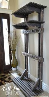 hall tree coat rack plans inspired by pottery barn building extra storage  for your coats is