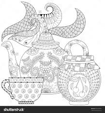 Zentangle Teapot With Steam Cup Of