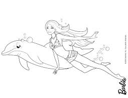 Barbie Mermaid Colouring Barbie Mermaid Coloring Pages To Print