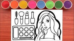 Tô Màu Tranh Cát TRANG ĐIỂM BÚP BÊ HÀN QUỐC - Sand Painting Makeup Doll  (Rainbow Candy) - YouTube
