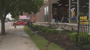police are investigating after a van ran into a advance auto parts in east columbus