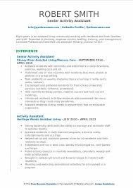 Activities Aide Sample Resume Gorgeous Activity Assistant Resume Samples QwikResume