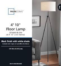 tripod floor lamp home decor lighting stand electric corded light living room