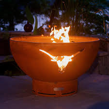 Fire Drum Designs Fire Pit Art Longhorn 36 Diam Fire Bowl In 2019 Products