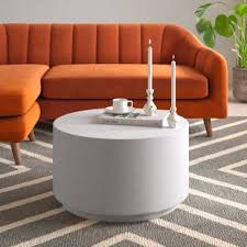 This build is super easy and uses feather finish for the top, so it's lightweight too! Modern Contemporary Concrete Cement Coffee Table Allmodern