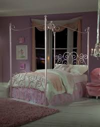 Princess Pink Full Size Canopy Bed