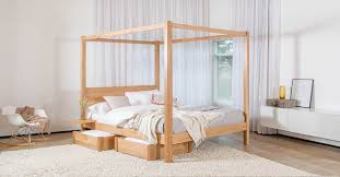 Canopy bed / double / contemporary / with storage - FOUR POSTER ...