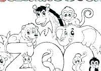 Simple Jungle Animal Coloring Pages Printable Coloring Page For Kids