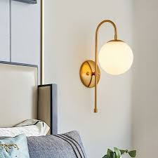 ball glass shade wall lamps sconces
