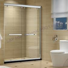 attractive tempered glass shower door applied to your house design double sliding glass shower doors