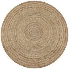 vidaxl area rug braided jute 90 cm round 1 5