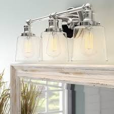 Vanity lighting Black Woodburn 3light Vanity Light Birch Lane Industrial Vanity Lights Birch Lane