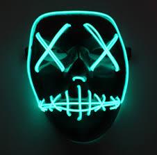 Led Light Up Mask Purge The Purge Election Year Led Light Up Mask Festival Halloween