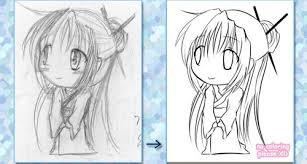 anime chibi drawing tutorial. Brilliant Drawing Chibilineart_tut How To Draw Chibi 33 Drawing Tutorials For Anime Chibi Tutorial B