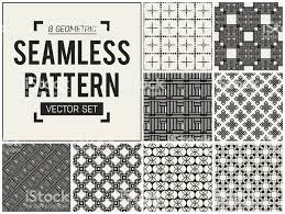 Abstract Begrip Vector Monochroom Geometrische Patroon Zwartwit