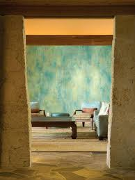 faux painting ideas interiors turquoise textured wall almost looks as if its raining combined with cream