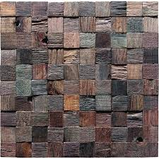 Small Picture Wooden Squared Mosaic tiles Wall Panel Design Rustic Craftsman