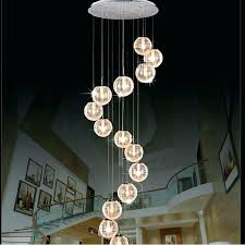 long chandelier modern spiral staircase lighting pictures gallery of