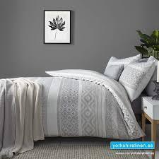 kintyre stripe silver duvet cover set