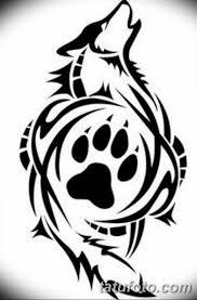 черно белый эскиз тату с животным волк 11032019 029 Tattoo