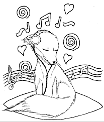 Small Picture Music coloring pages dog listening to music ColoringStar
