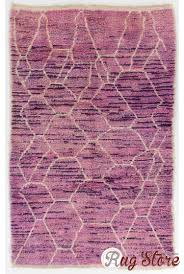 lilac color moroccan berber beni ourain design rug with lavender patterns handmade 100 wool