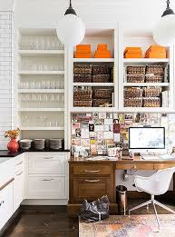 home office in kitchen. Photo By Lesley Unruh Home Office In Kitchen