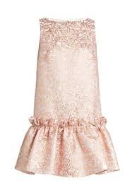 Semiha ruffled-hem leaf-brocade dress | Osman | MATCHESFASHION FR