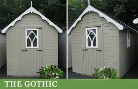 gothic style garden shed