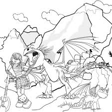 Small Picture How To Train Your Dragon Coloring Pages Online Coloring Pages