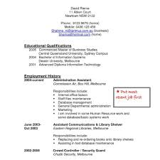 Resume Cover Letter Canadian Format Security Officer Job And Elegant