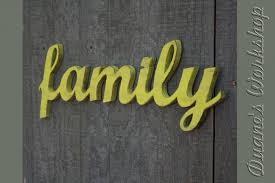 family sign diy wedding decoration