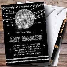 Amazon Com Silver Disco Ball Invitations Childrens Birthday