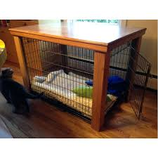 wooden dog crate furniture table cover inside ideas 8
