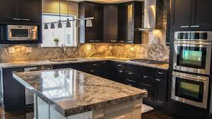 white fantasy granite dark cabinets backsplash ideas granite countertops with dark cabinets