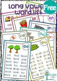 Action Words Chart With Pictures Long Vowel Sounds Chart Free Www Englishsafari In