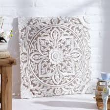 carved wooden wall panel distressed white amazon uk kitchen  on rustic white wood wall art with white floral wood wall art panel indian wood carved wall hanging