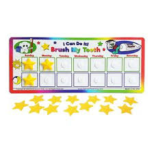Teeth Cleaning Sticker Chart