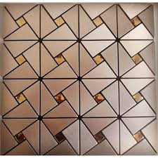metal glass mosaic diamond brushed aluminum alucobond tile kitchen backsplash acp mh asj 007 triangle crystal