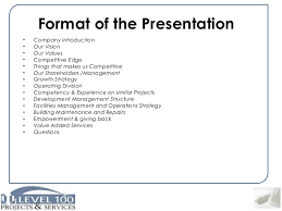 Format For Presentation Of Project Building Construction Project Planning And Project Management Level