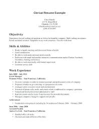 Resume For Clerical Job Best of Resume Template Skills Clerical Resume Template Resume For Office